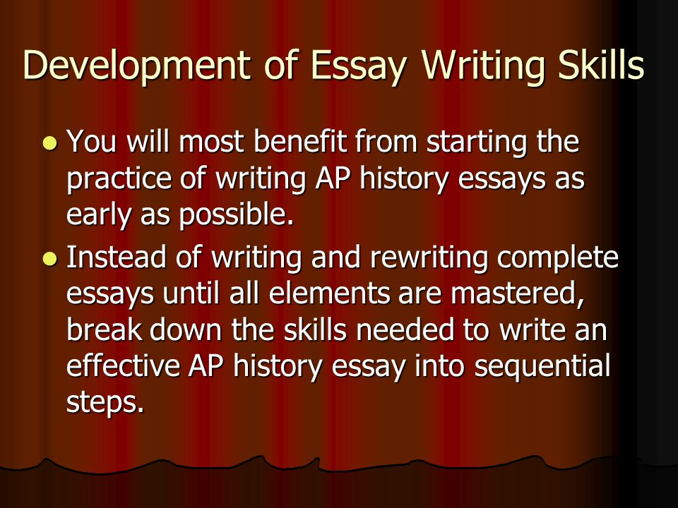 development writer essay Development essays published on thanet writers  writers are always told to read in order to improve, but can reading be bad for development.