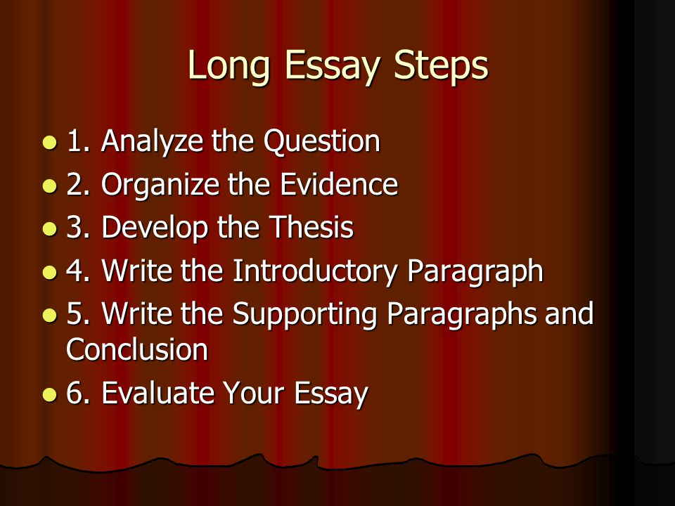 organizing evidence essay Writing center handout mla supporting a thesis & organizing evidencedocx organize evidence the body of an essay consists of evidence that supports the thesis.