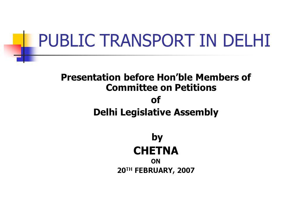 PUBLIC TRANSPORT IN DELHI