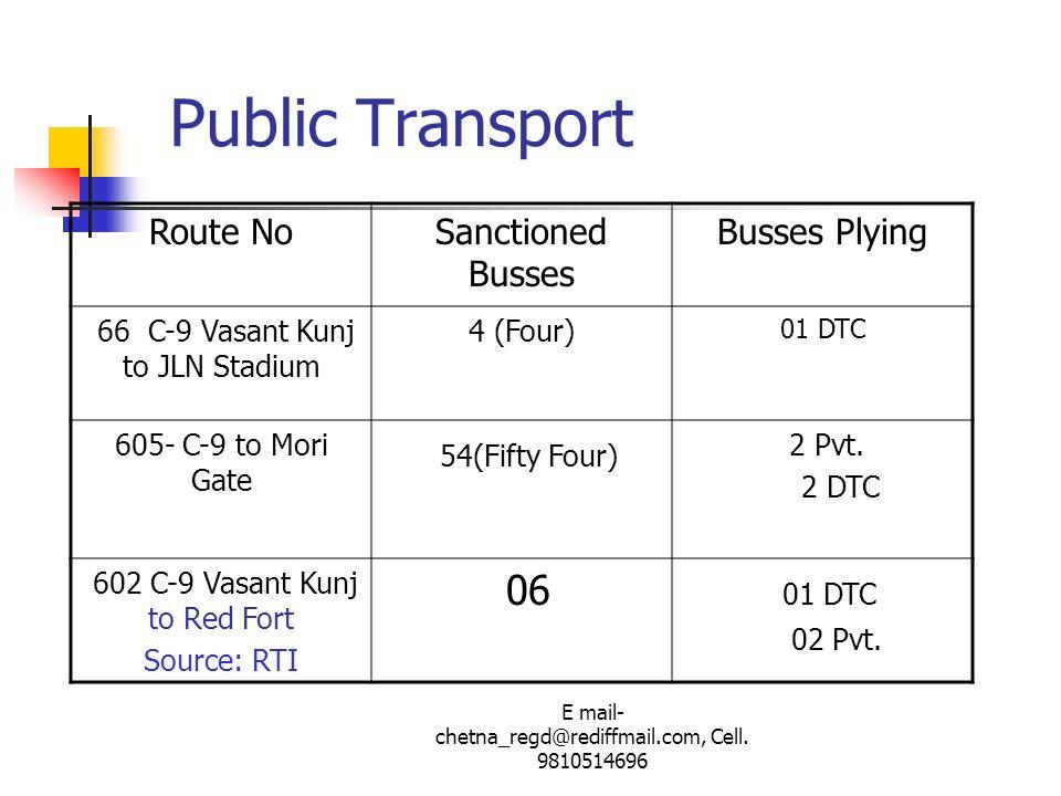 Public Transport 54(Fifty Four) 06 Route No Sanctioned Busses