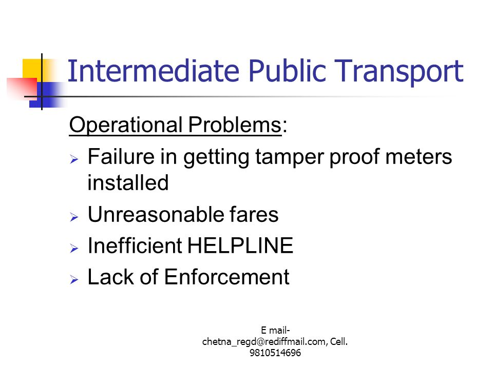 Intermediate Public Transport