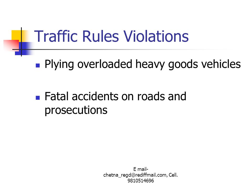 Traffic Rules Violations