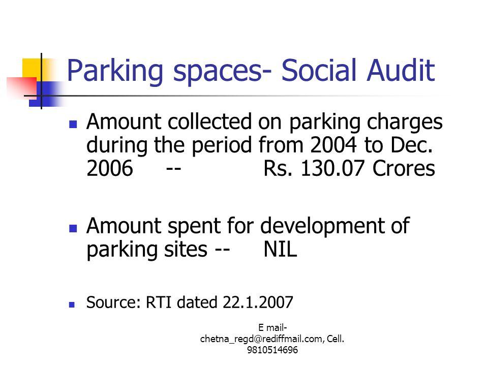 Parking spaces- Social Audit