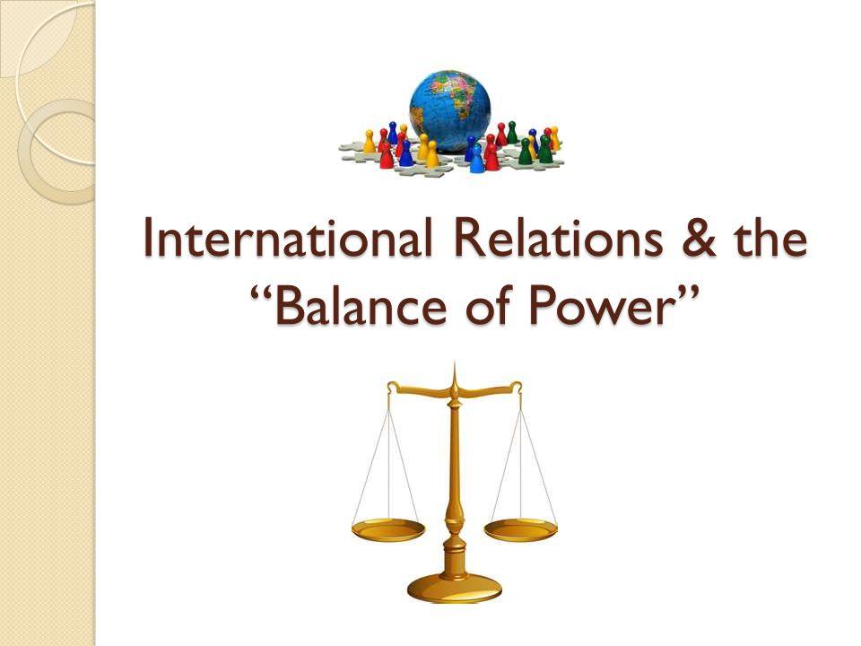 characteristics of balance of power in international relations pdf