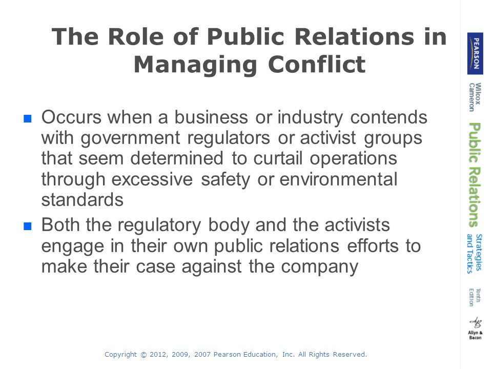 the role of public relations in business The iabc team first started to develop a theory of value of public relations by reviewing theories of business  role and symmetrical public relations.