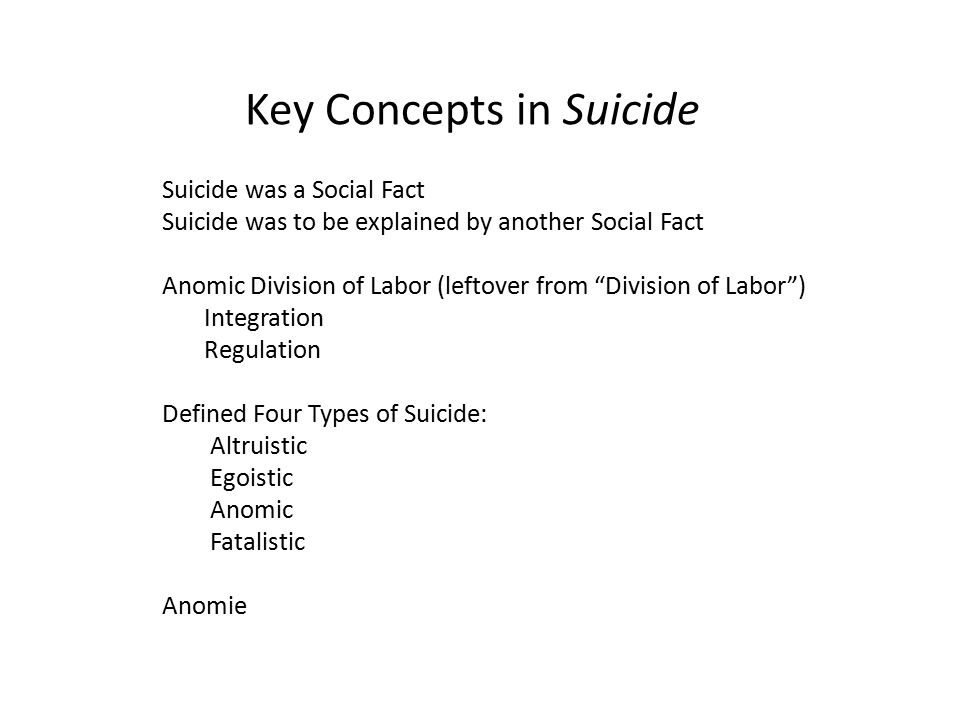 emile durkheim on the association of religions effects on the rates of suicide In suicide, durkheim found that involvement  for the observed difference in suicide rates between  on suicide, and that it has indirect effects.