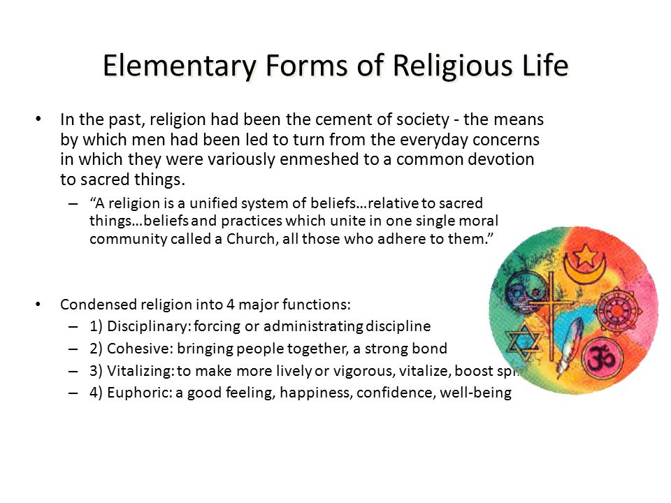 elementary forms of religious life essay ― émile durkheim, the elementary forms of religious life tags: religion 3 likes like ― émile durkheim, the elementary forms of religious life 1 likes.