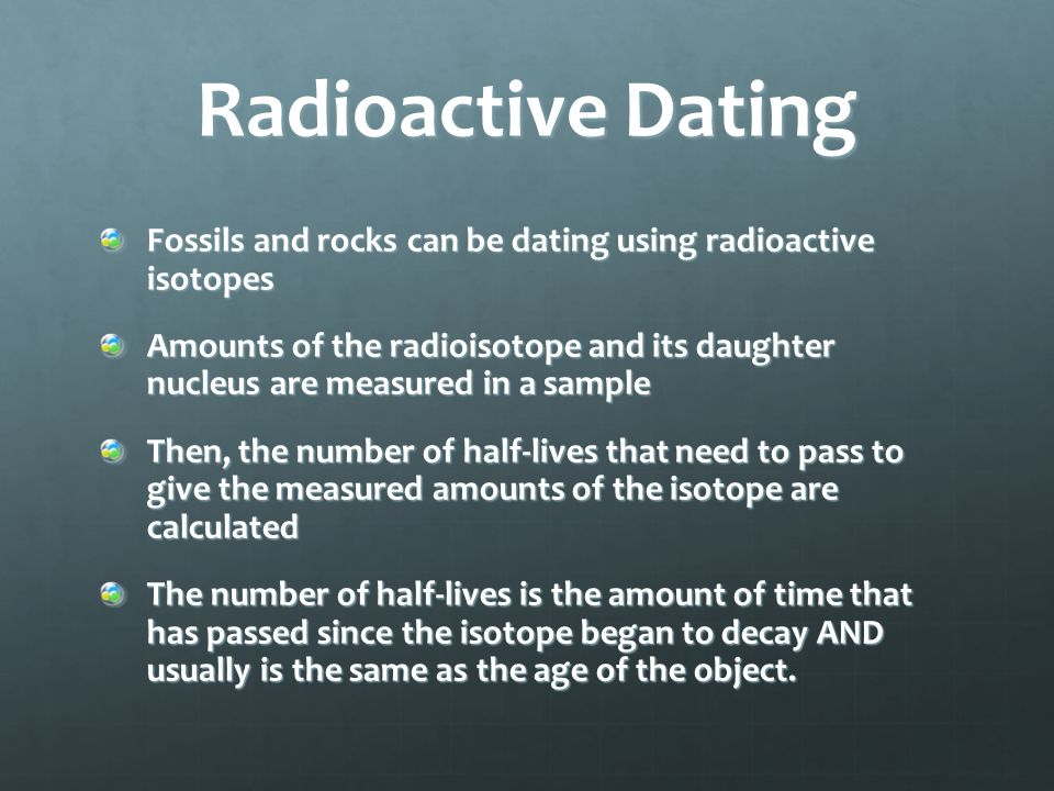 How are radioisotopes used for dating fossils