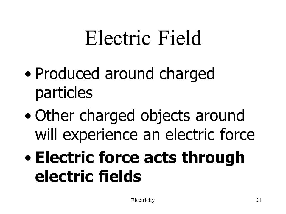 Electric Field Produced around charged particles