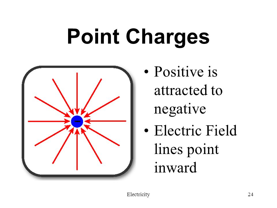 Point Charges Positive is attracted to negative