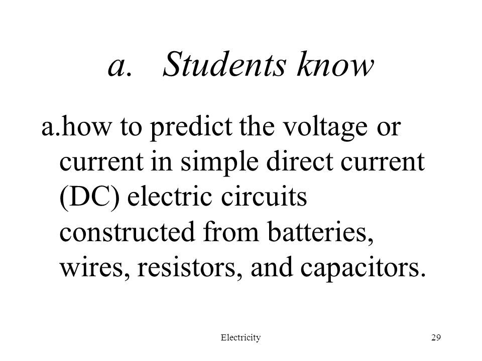 Students know