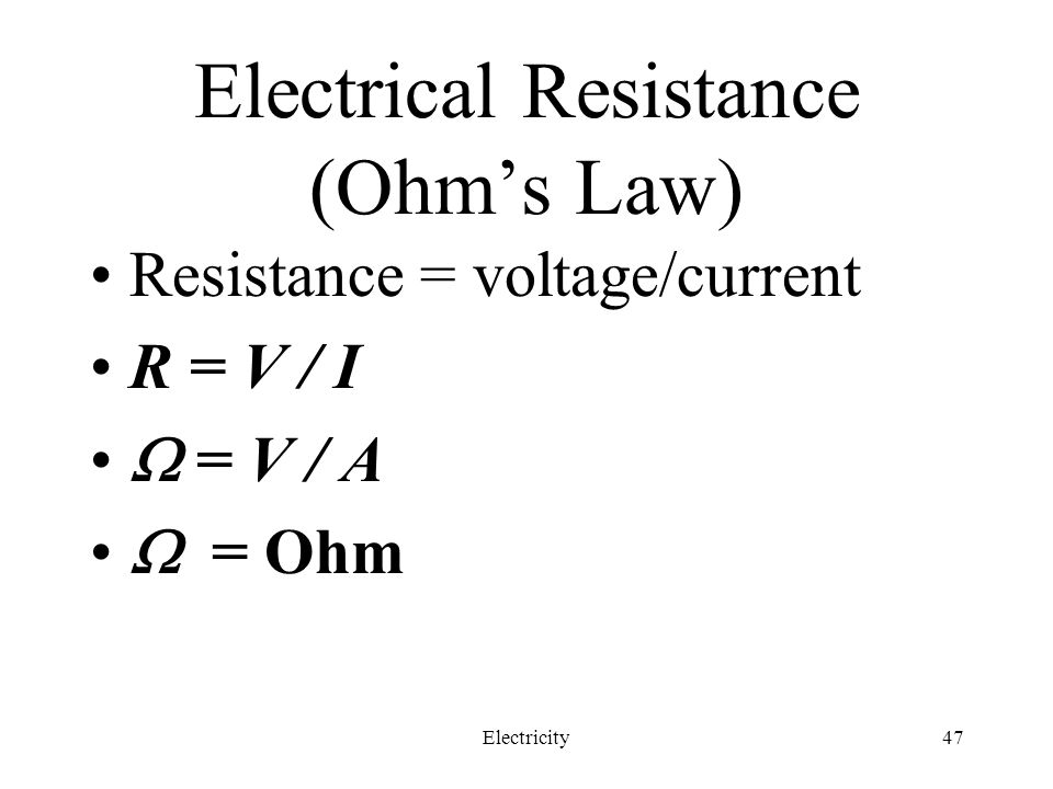 Electrical Resistance (Ohm's Law)