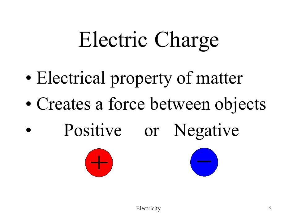 Electric Charge Electrical property of matter