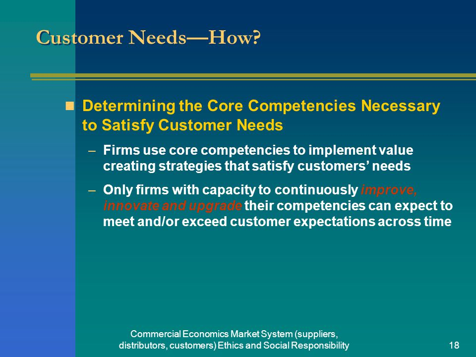 satisfy customer needs Take note, customer satisfaction is a key differentiator in a sea of other companies it is first important to understand that what your customer needs.
