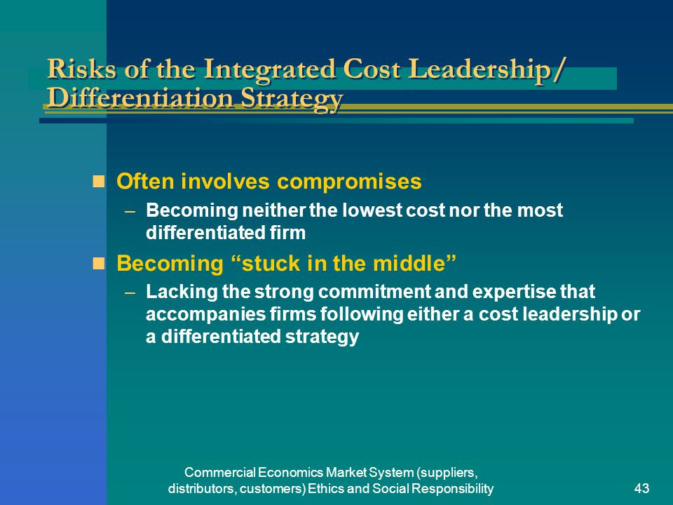 Cost leadership and differentiation simultaneously