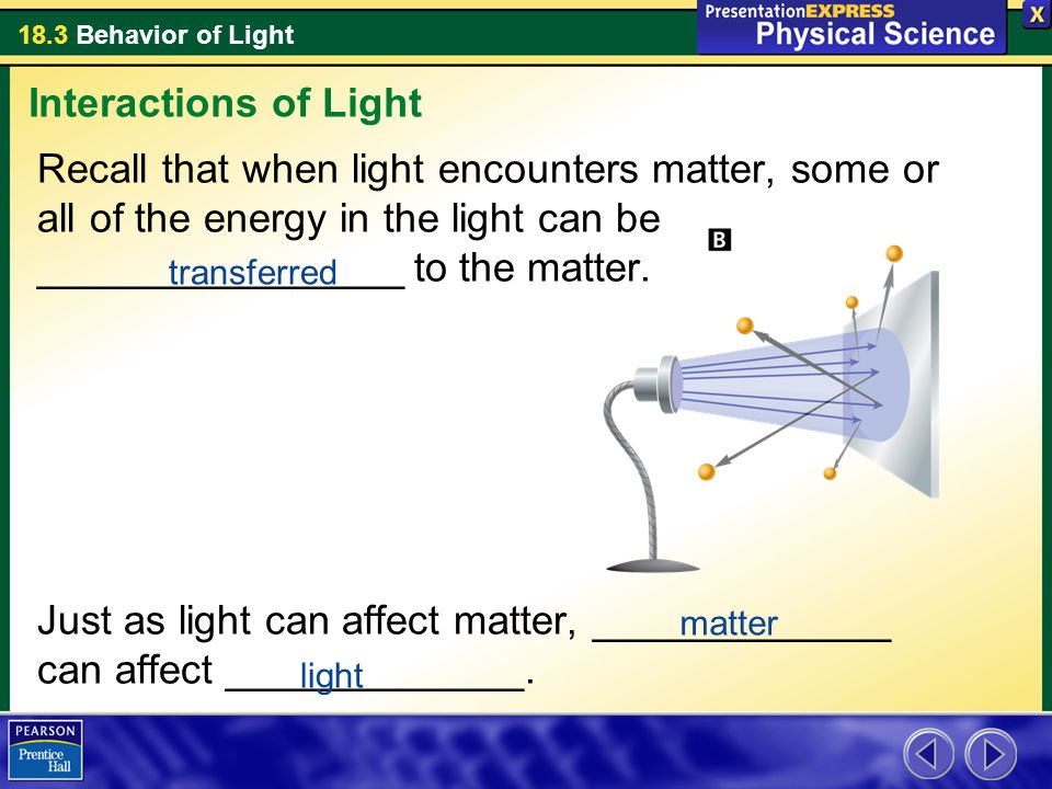 interactions of light and matter So basically, i was trying to find a good answer to the question of how light interacts matter namely on the quantum level what causes matter to appear transparent.