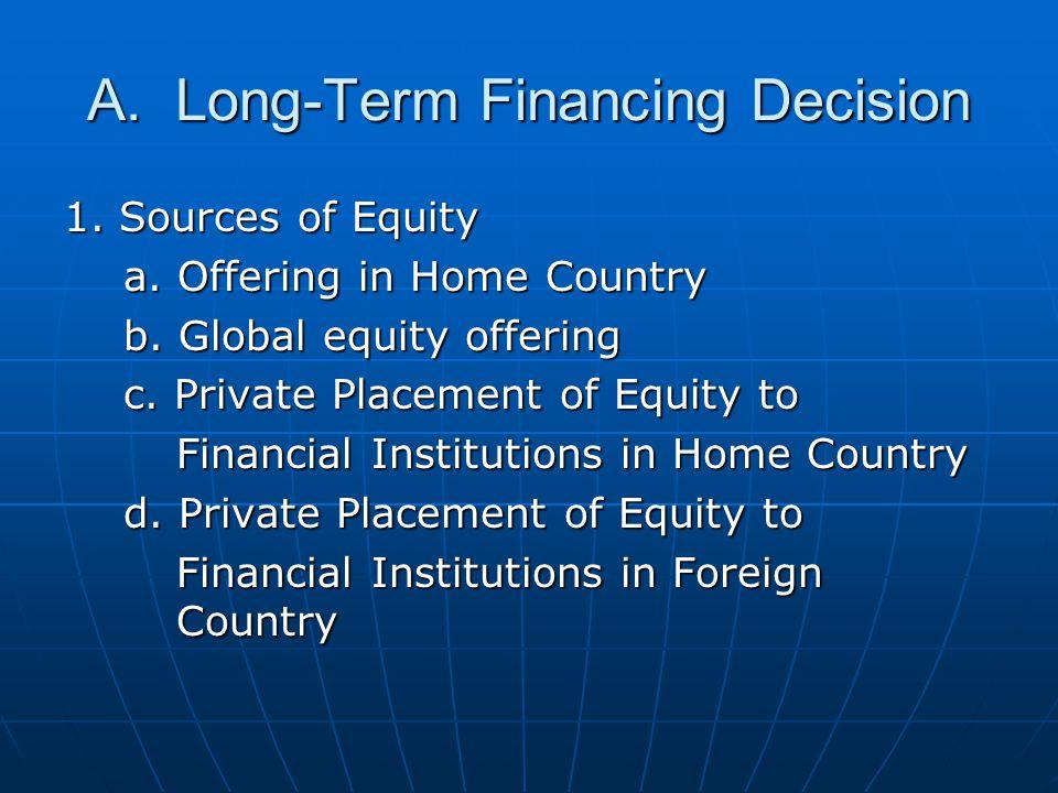 long term financial decisions