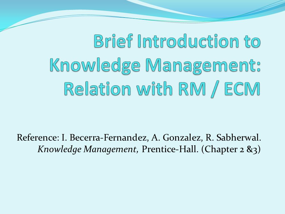 brief introduction to management Project management is the process of controlling the implementation of new initiatives, involving a number of activities, people, deadlines and budgets.