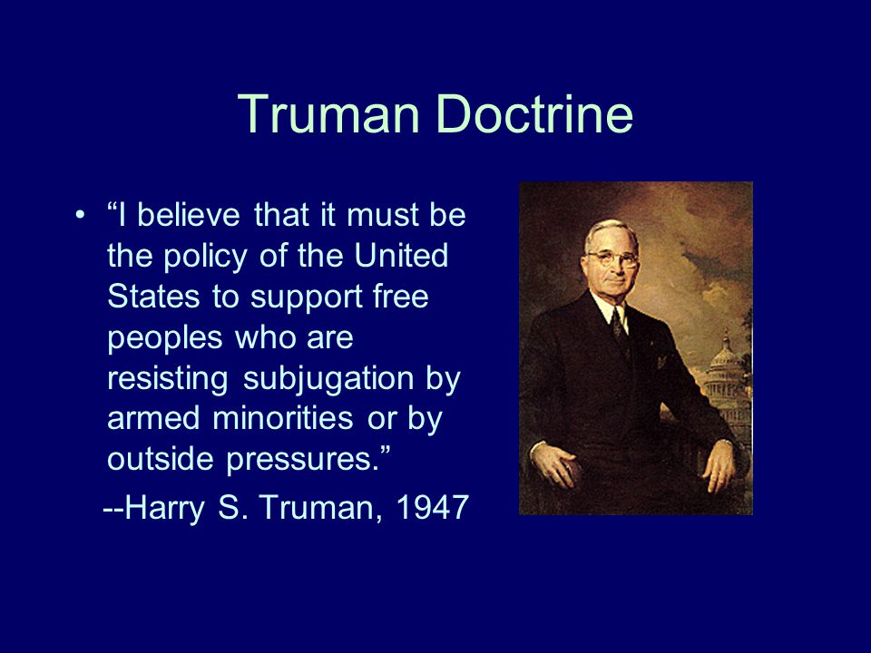 an introduction to the importance of the truman doctrine Video: the truman doctrine: definition, summary & purpose the truman doctrine called for the containment of communism worldwide we'll look at its historical background and central ideas as well as its effect on american and world history.