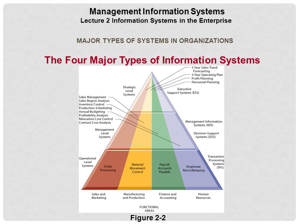Types of information systems by brittan
