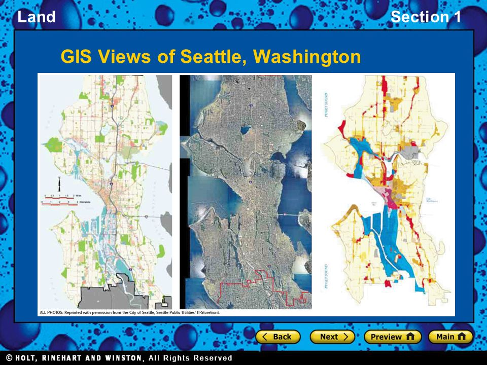 GIS Views of Seattle, Washington