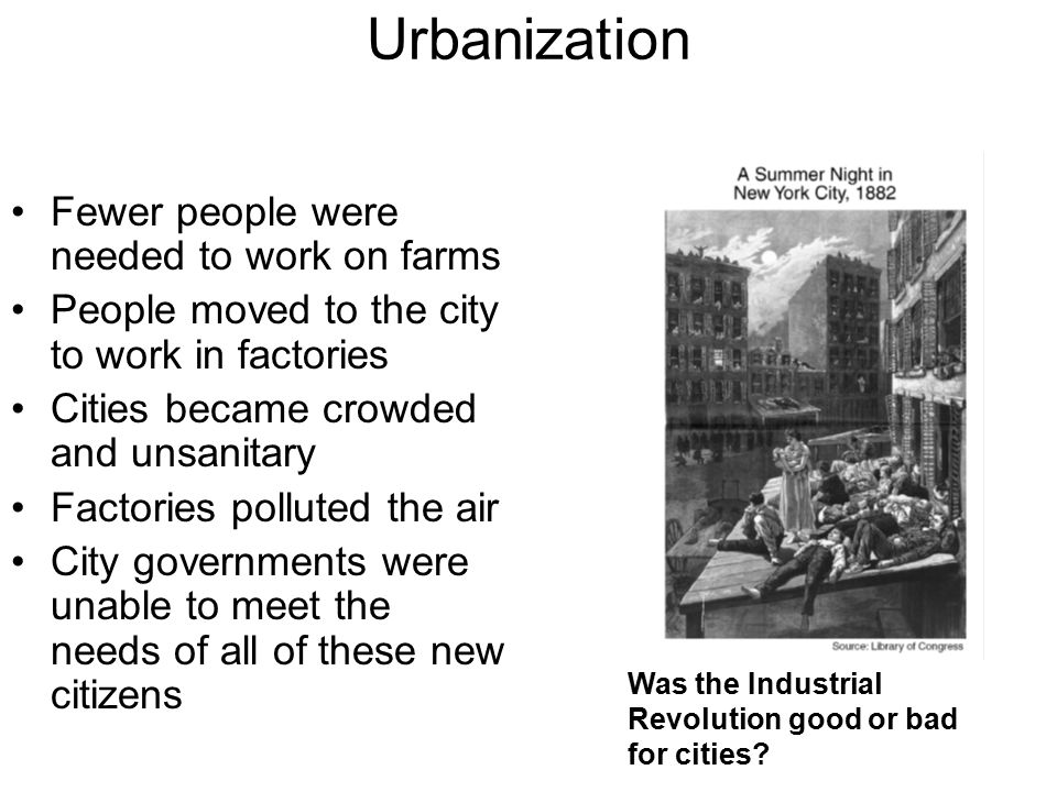 was the industrial revolution good or bad for britain Industrial revolution, in modern history, the process of change from an agrarian and handicraft economy to one dominated by industry and machine manufacturing this process began in britain in the 18th century and from there spread to.