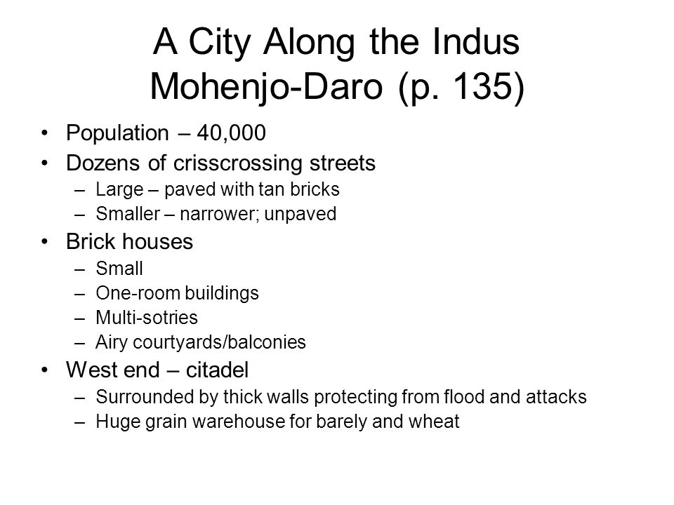 A City Along the Indus Mohenjo-Daro (p. 135)