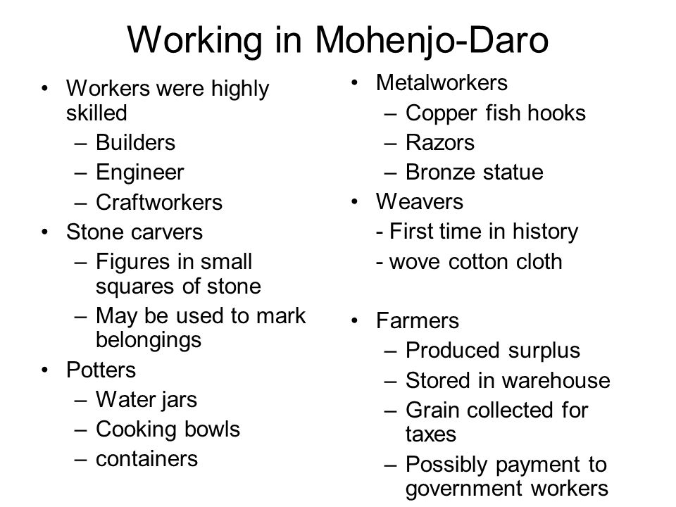 Working in Mohenjo-Daro
