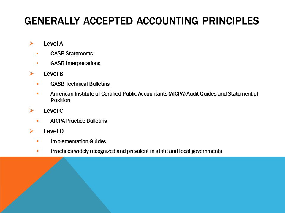 finance generally accepted accounting principles and Generally accepted accounting principles (abbreviated gaap), are the general rules, regulations and guidelines that are followed in the united states by accountants to ensure their practices are legal and ethical.