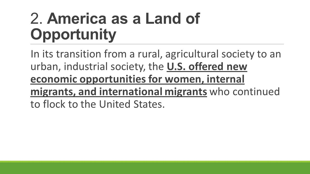 america as the land of opportunity essay America essays america is the land of opportunity this country is full of great ways to better our lives there are many different kinds of opportunities we can use to improve the quality of our living conditions.