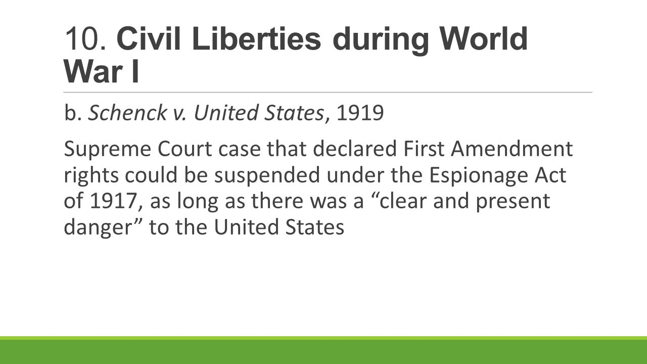 should civil liberties suspended during war time The heritage foundation on perceived intrusions on civil liberties, but americans should keep in mind that the soviet union during the cold war.