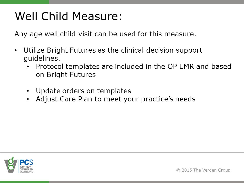 Delving into pcmh standards ppt video online download for Well child visit template