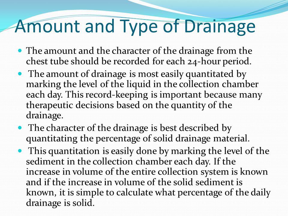 Intercostal drainage thoracentesis and fibrinolytics for Types of drainage