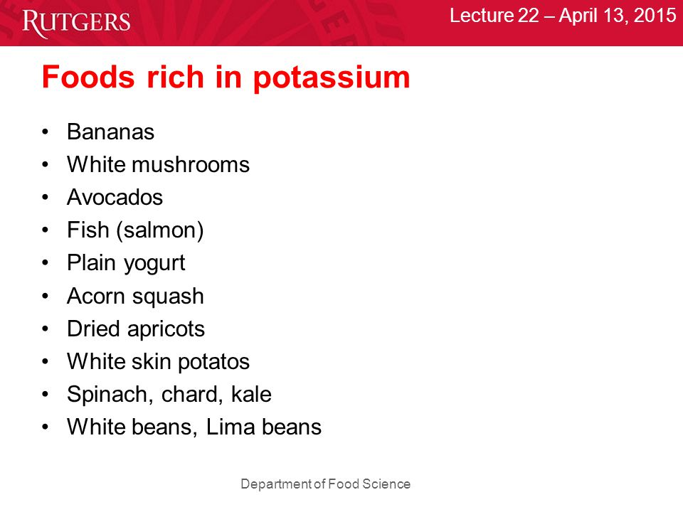 Lecture 22 april 13 2015 dr quadro ppt download for Potassium in fish