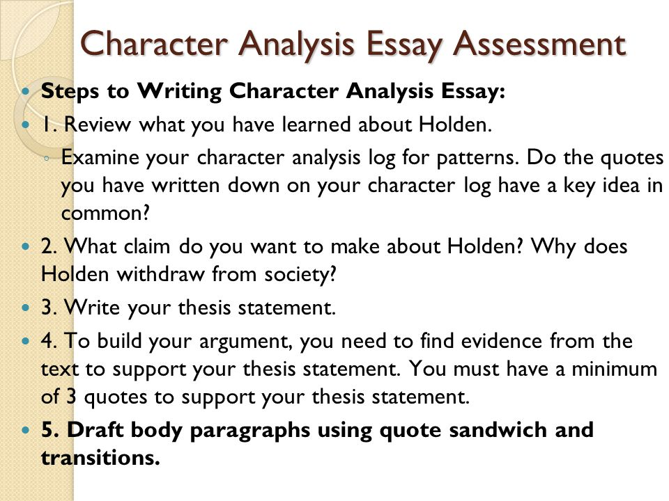 character analysis essay powerpoint Have a pressing analytical assignment there's no need to worry since you can buy analysis essay here we surely have a suitable writer to help you with that tiresome task of.
