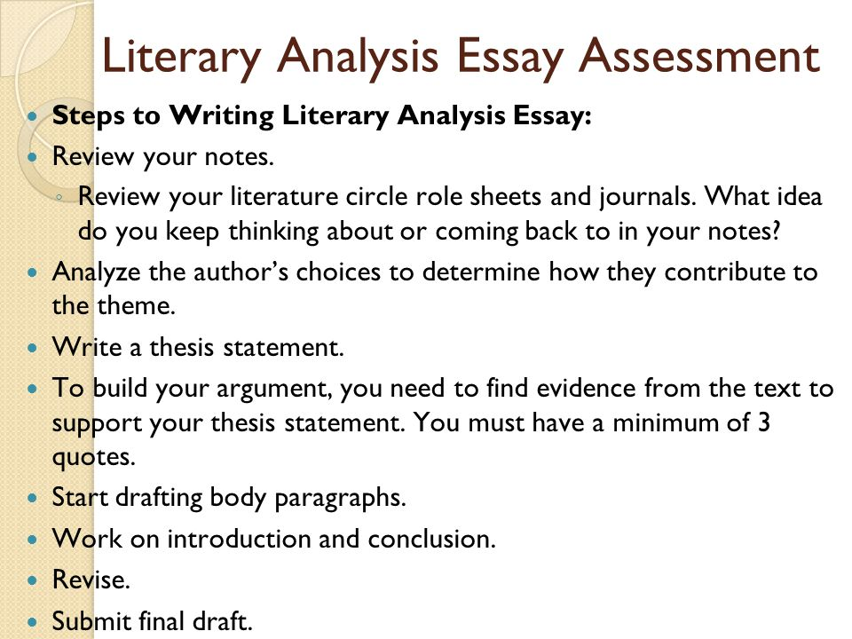 literary analysis essay writing Teach students how to write an interpretive essay and how to write a literary analysis with these simple steps.