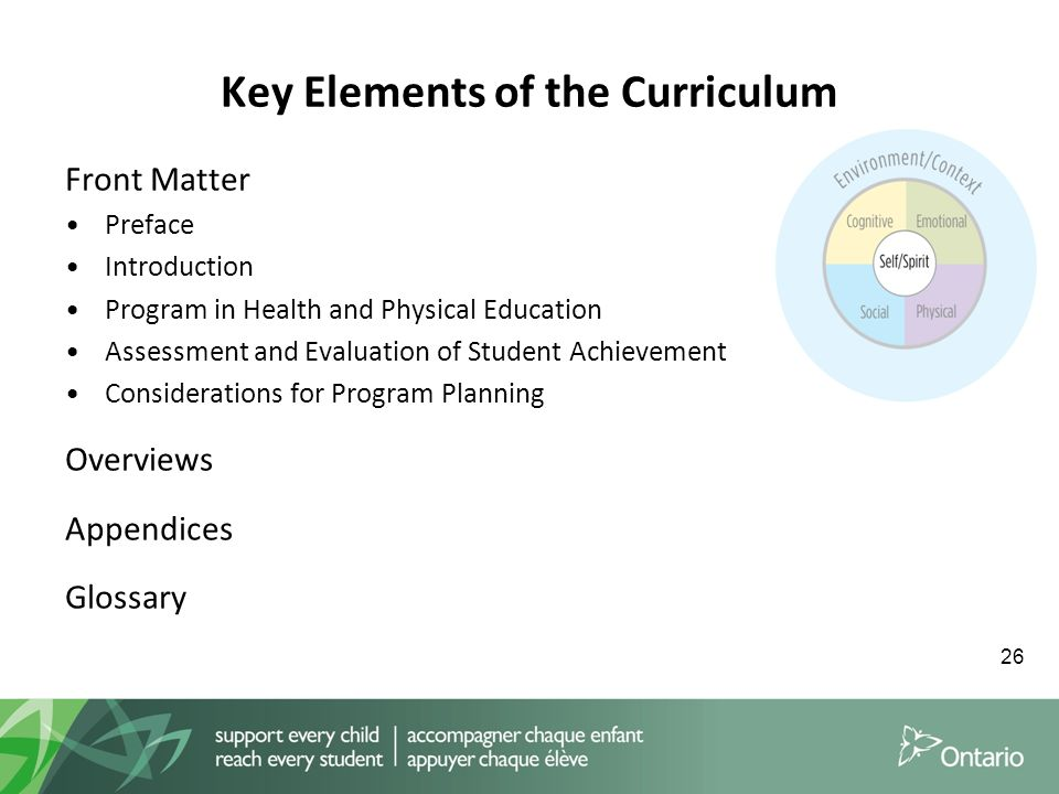 core elements of health education and Health education jon hisgen, ms, ches health and physical education consultant the common core state standards for english elements of high quality.