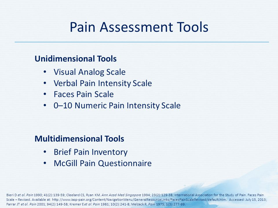 Pain Assessment Tools Unidimensional Tools Visual Analog Scale