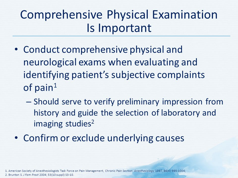 Comprehensive Physical Examination Is Important