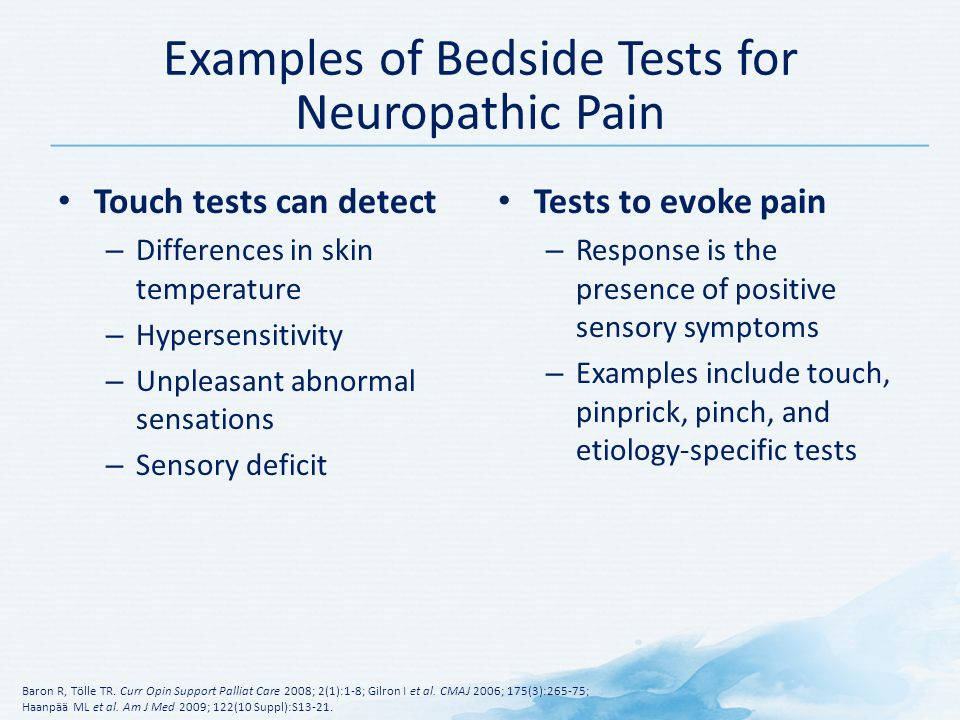 Examples of Bedside Tests for Neuropathic Pain
