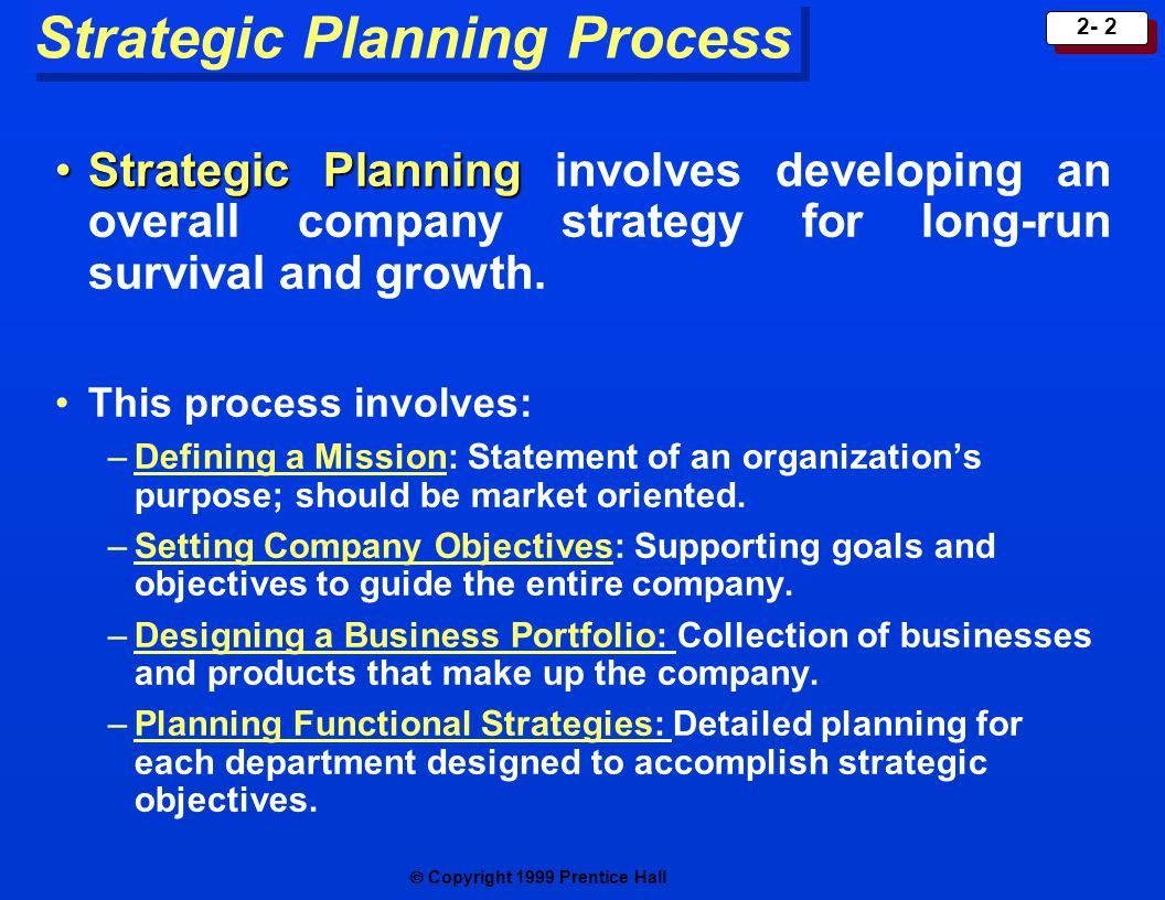 Strategic Objectives (Strategic Goals)