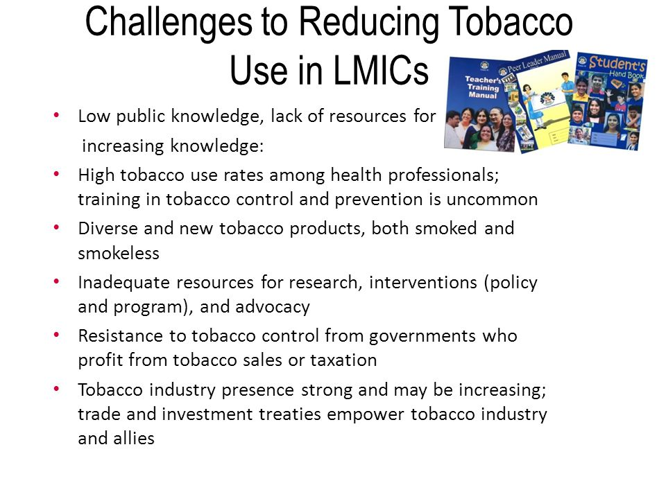 obstacles for tobacco control in indonesia Smoking in indonesia is common, as there are approximately 57 million smokers  in indonesia of indonesian people, 63% of men and 5% of women reported.