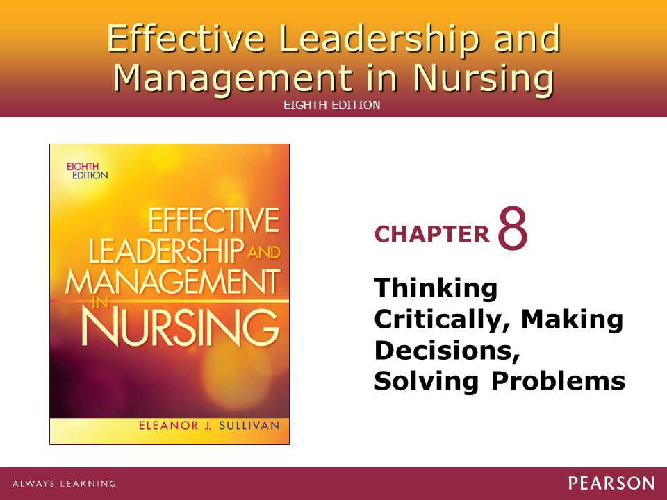 critical thinking in healthcare management