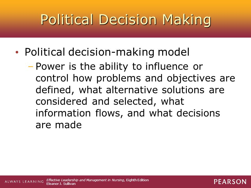 Political Decision Making