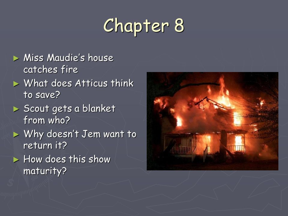 write a short essay on a house on fire