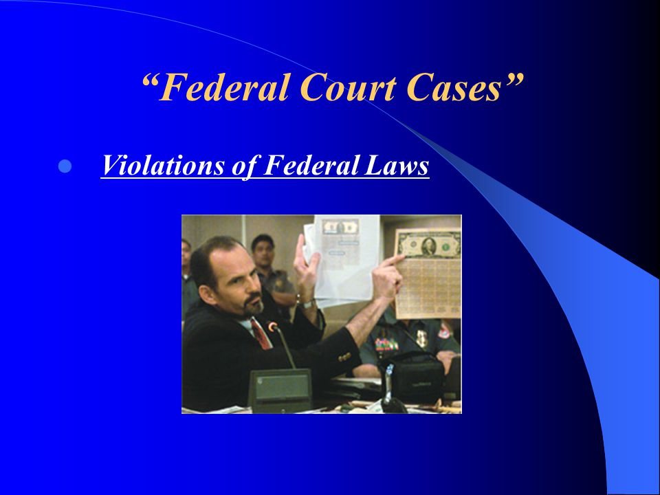 Federal Court Cases Violations of Federal Laws