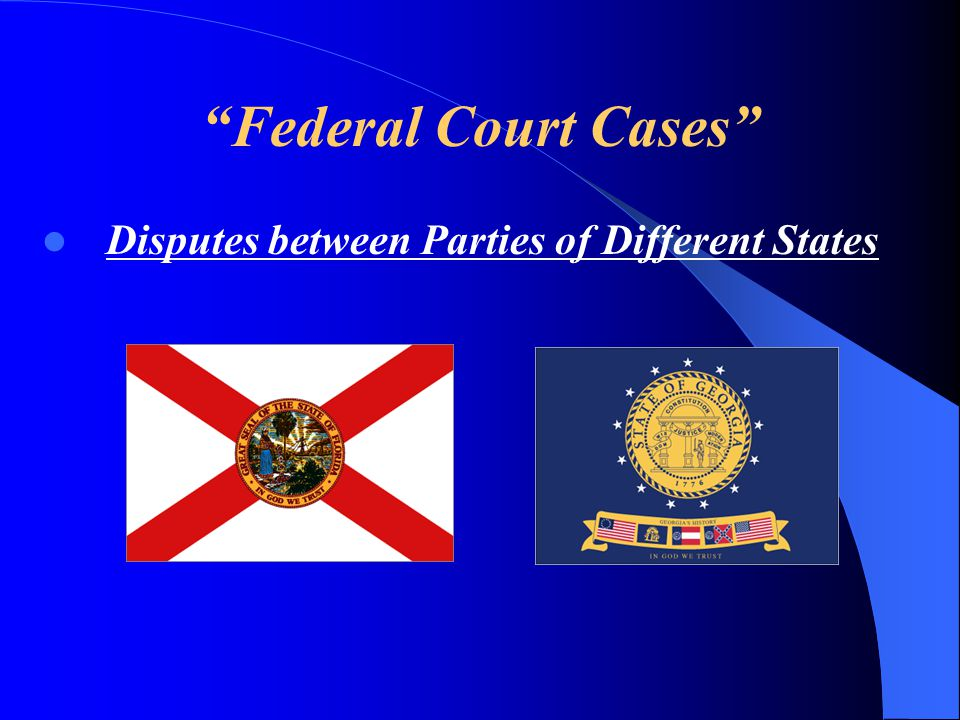 Federal Court Cases Disputes between Parties of Different States