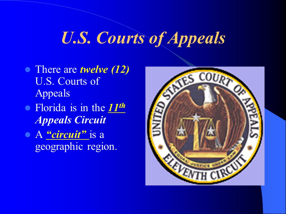 U.S. Courts of Appeals There are twelve (12) U.S. Courts of Appeals