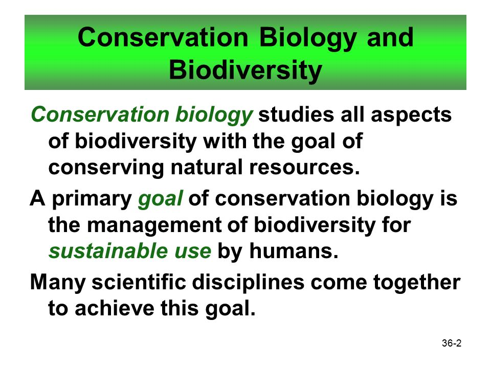 conservation biodiversity and natural resources