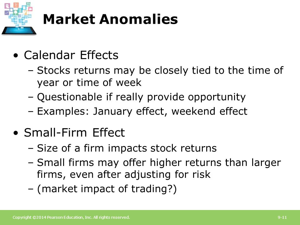 market efficiency and anomalies The efficient market hypothesis is a hypothesis that provides an important  as  anomalies to the emh have been uncovered, there's been.